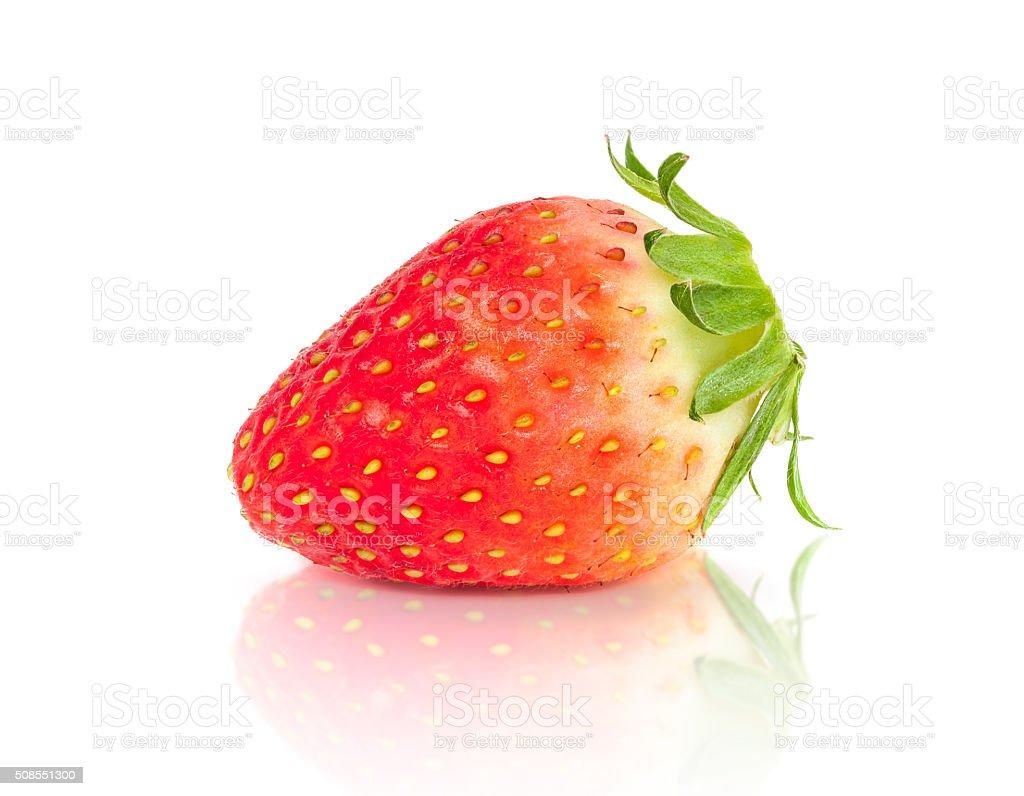 Strawberry fruit isolated on white background stock photo