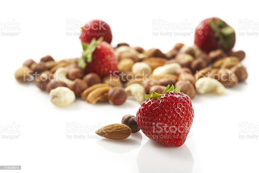 strawberry go nuts stock photo