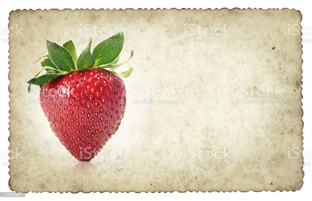 strawberry grungy frame royalty-free stock photo