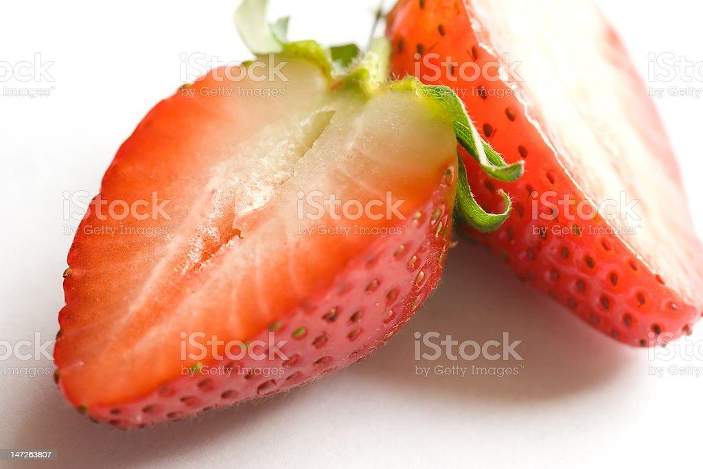 Strawberry Halves royalty-free stock photo