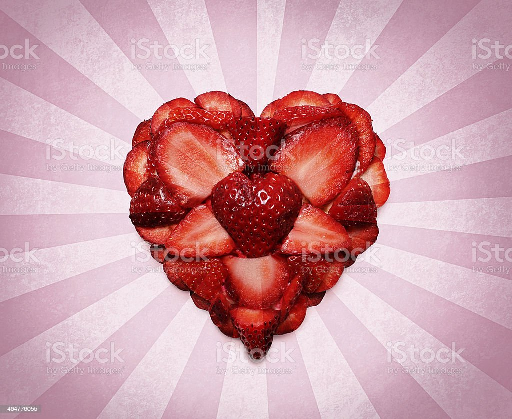 Strawberry Heart Photo Design stock photo