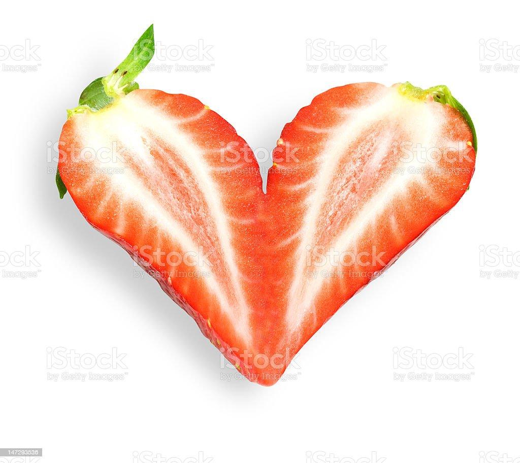 Strawberry heart royalty-free stock photo