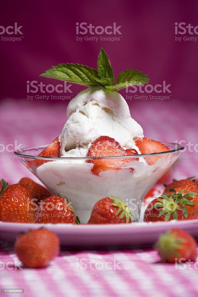 strawberry ice cream royalty-free stock photo
