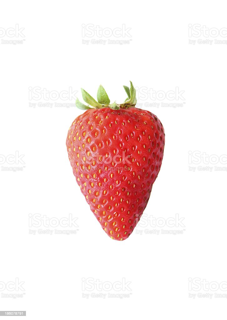 Strawberry isolated on a white background royalty-free stock photo