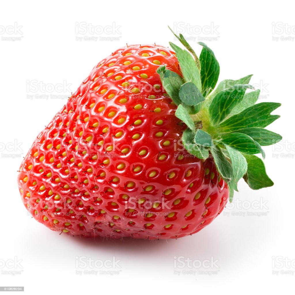 Strawberry isolated on white background stock photo