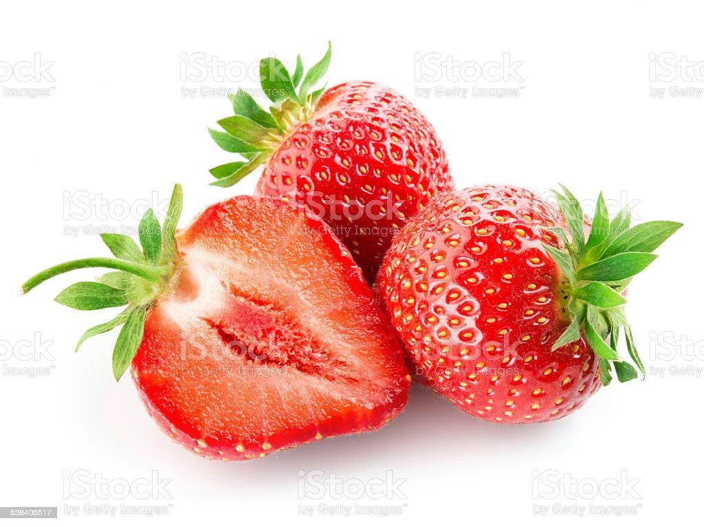 Strawberry isolated on white background stock photo