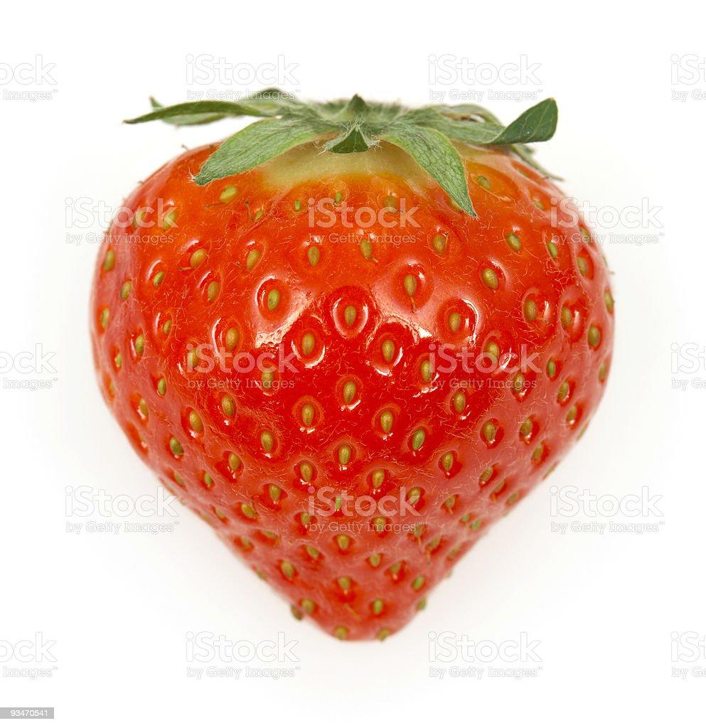 Strawberry isolated on white background royalty-free stock photo