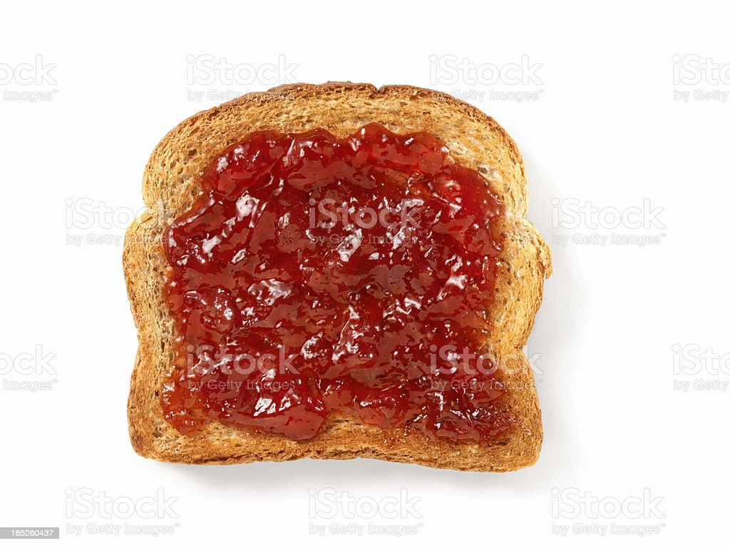 Strawberry Jam on Toast stock photo