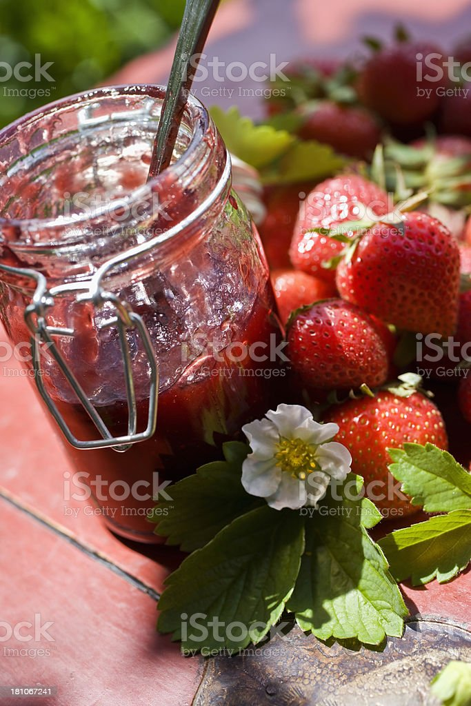 Strawberry Jam royalty-free stock photo