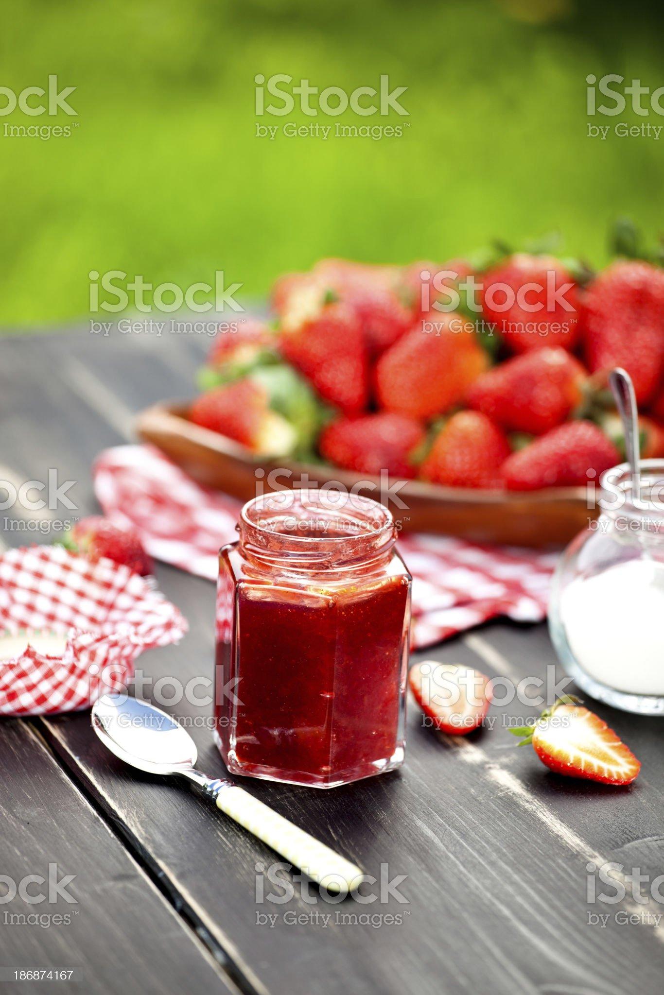 Strawberry Jam royalty-free stock photo
