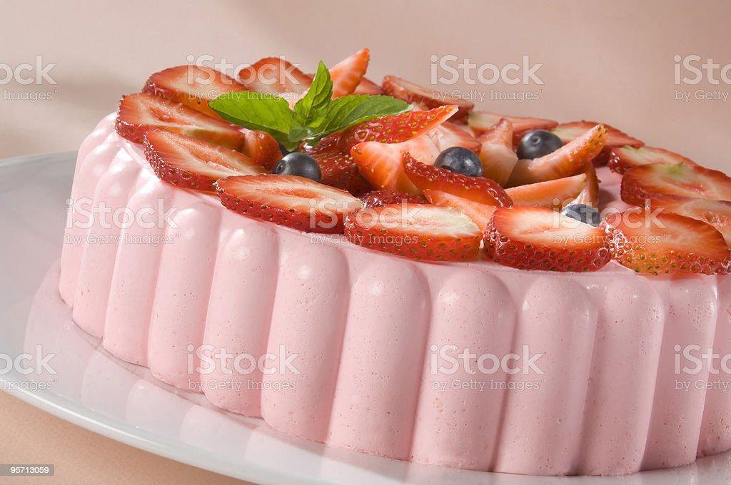 Strawberry Jell-O stock photo