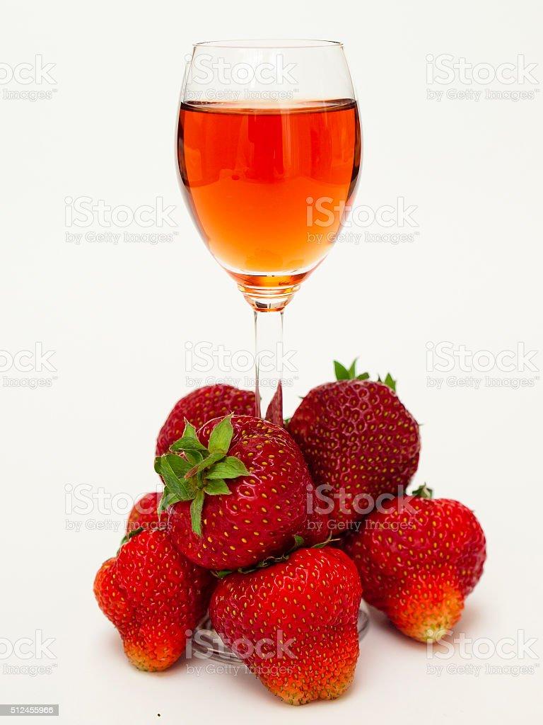 Strawberry liqueur stock photo