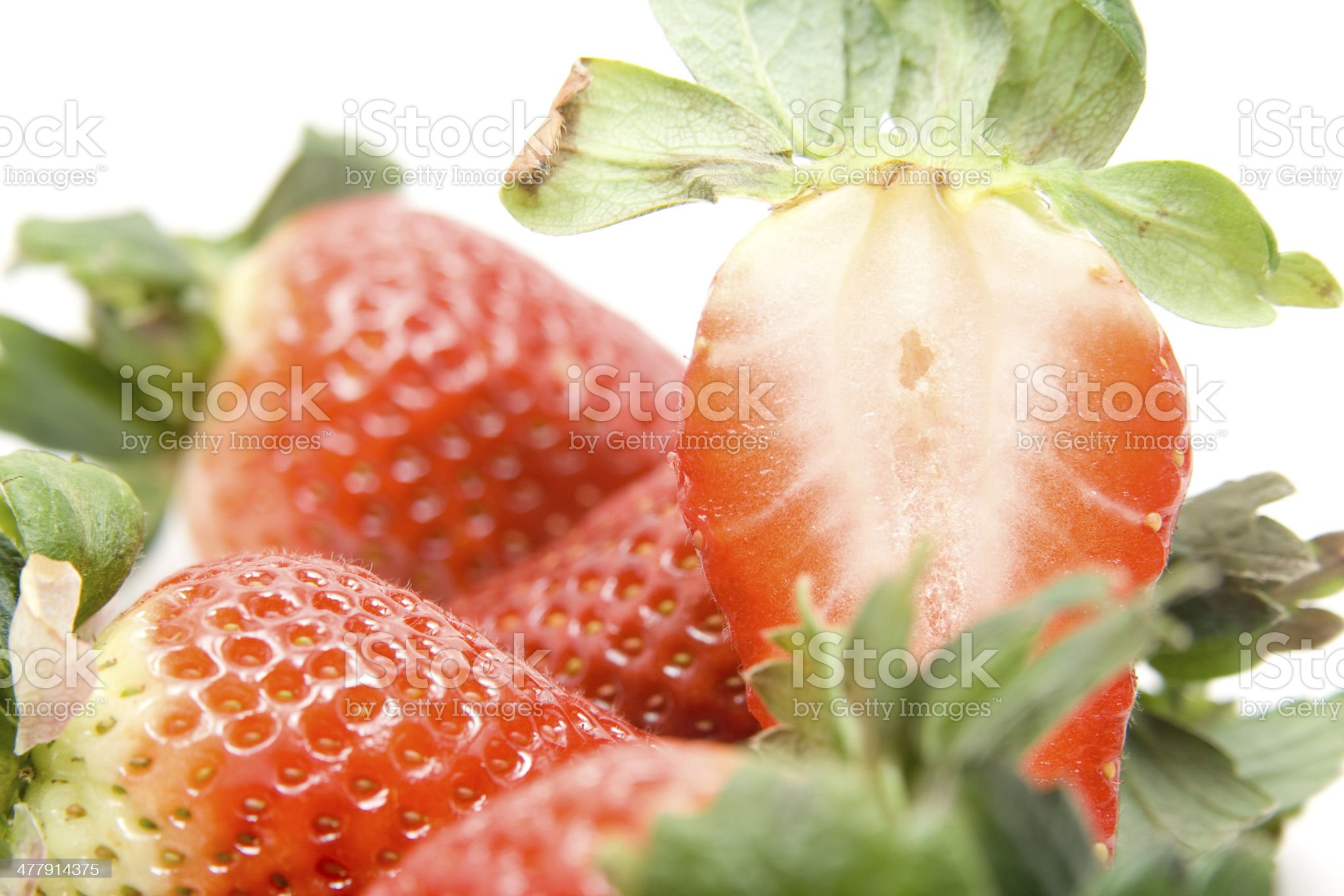 Strawberry macro royalty-free stock photo