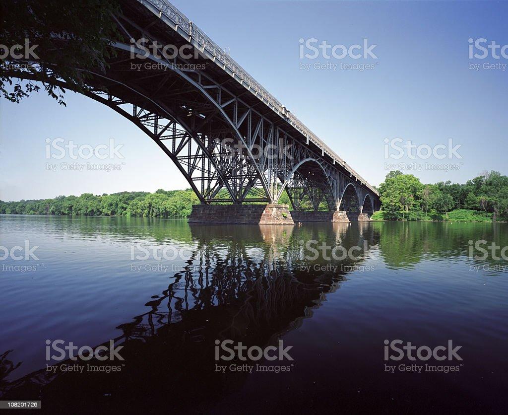 Strawberry Mansion Bridge Philadelphia stock photo