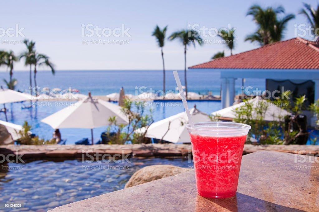Strawberry Margarita In Mexico royalty-free stock photo