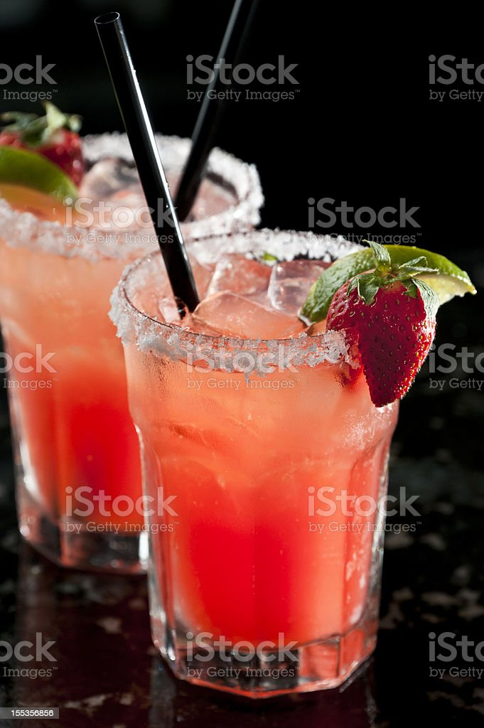 Strawberry Margaritas stock photo