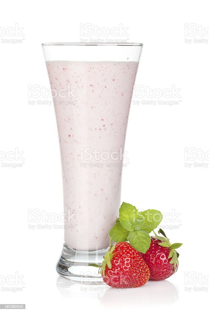 Strawberry milk smoothie cocktail royalty-free stock photo