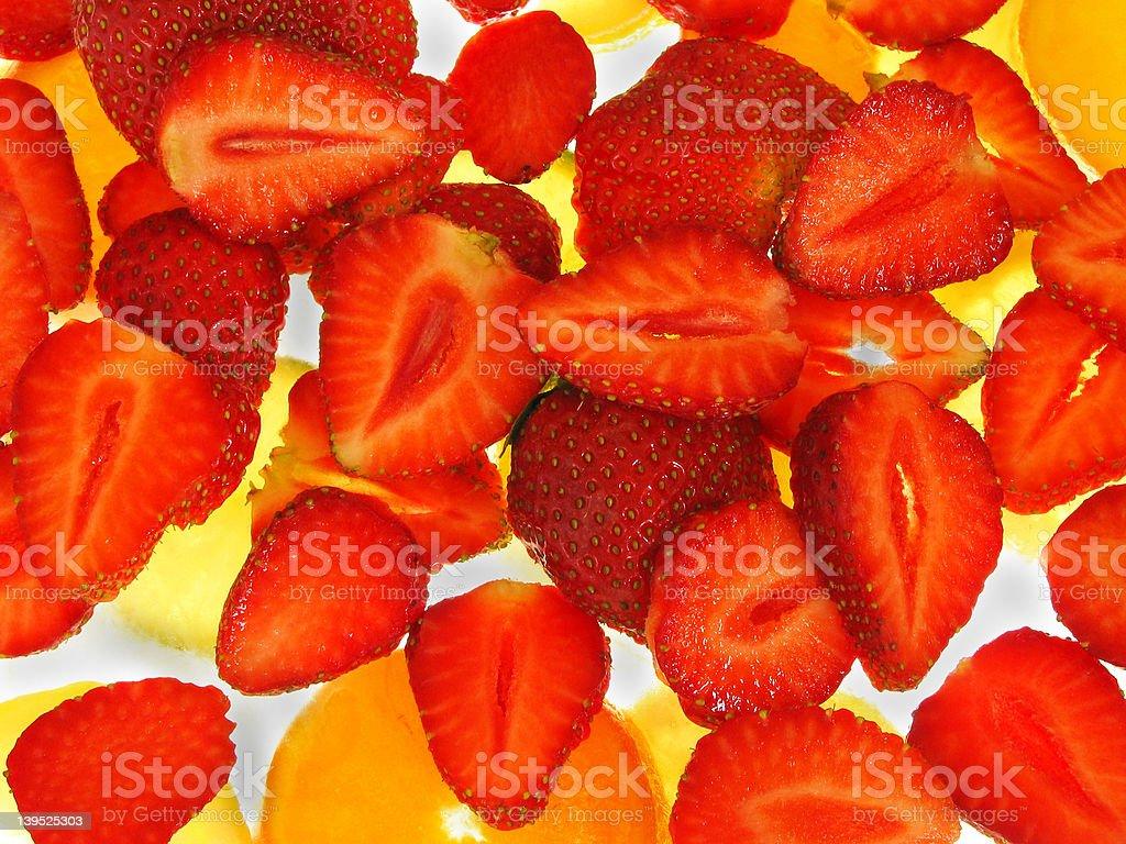 strawberry on Ice stock photo