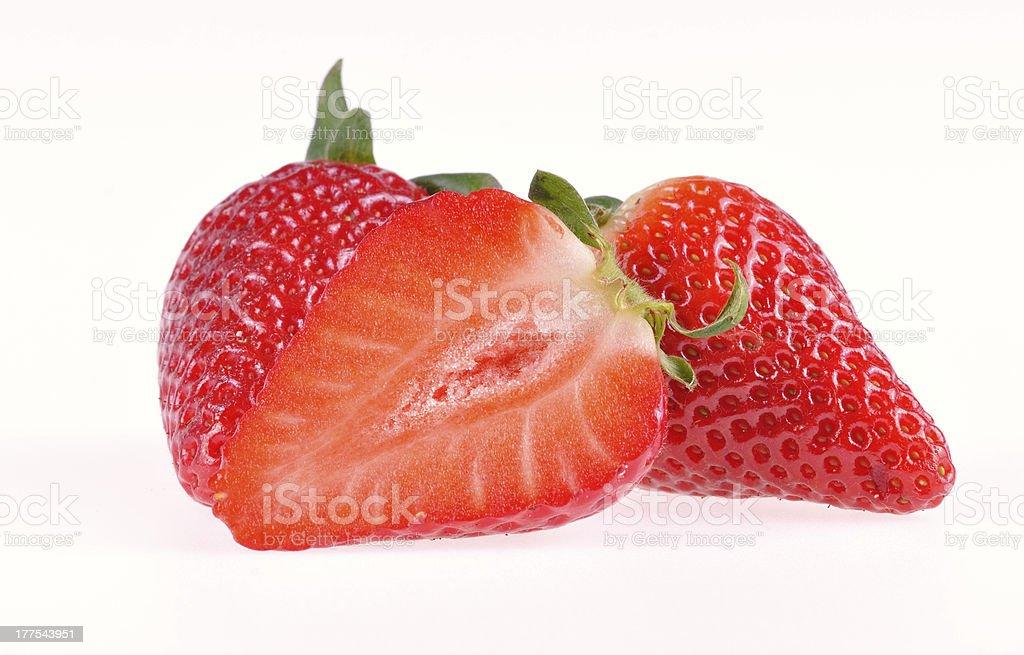 strawberry on white background royalty-free stock photo