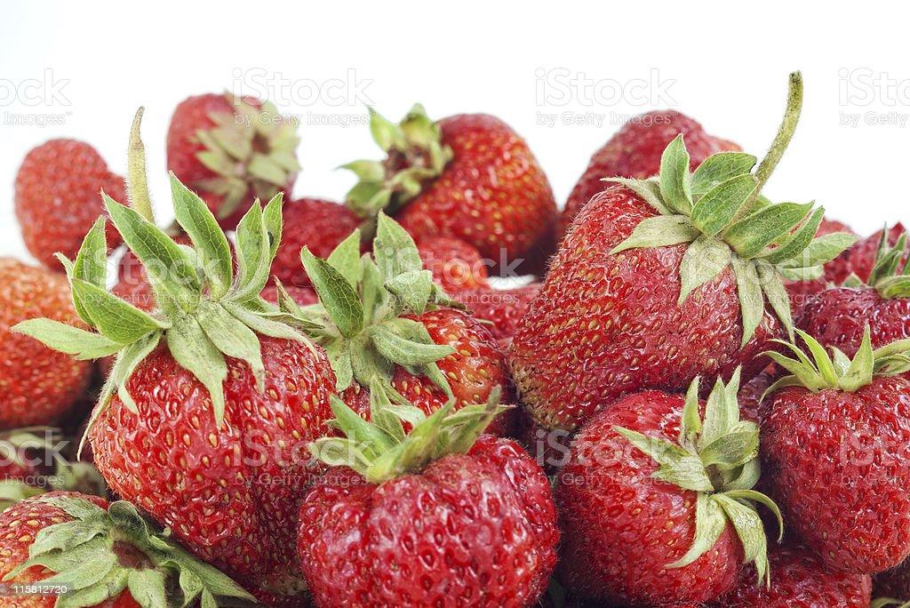 strawberry on white stock photo