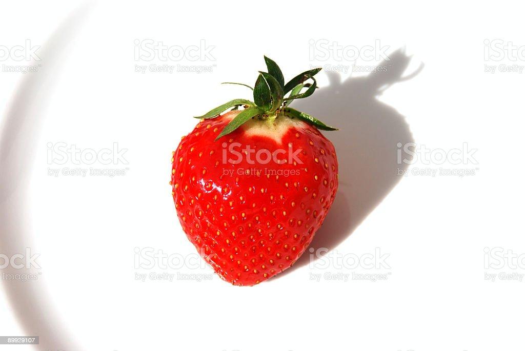 Strawberry on white-isolated royalty-free stock photo