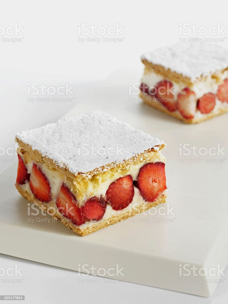 Strawberry pastries stock photo