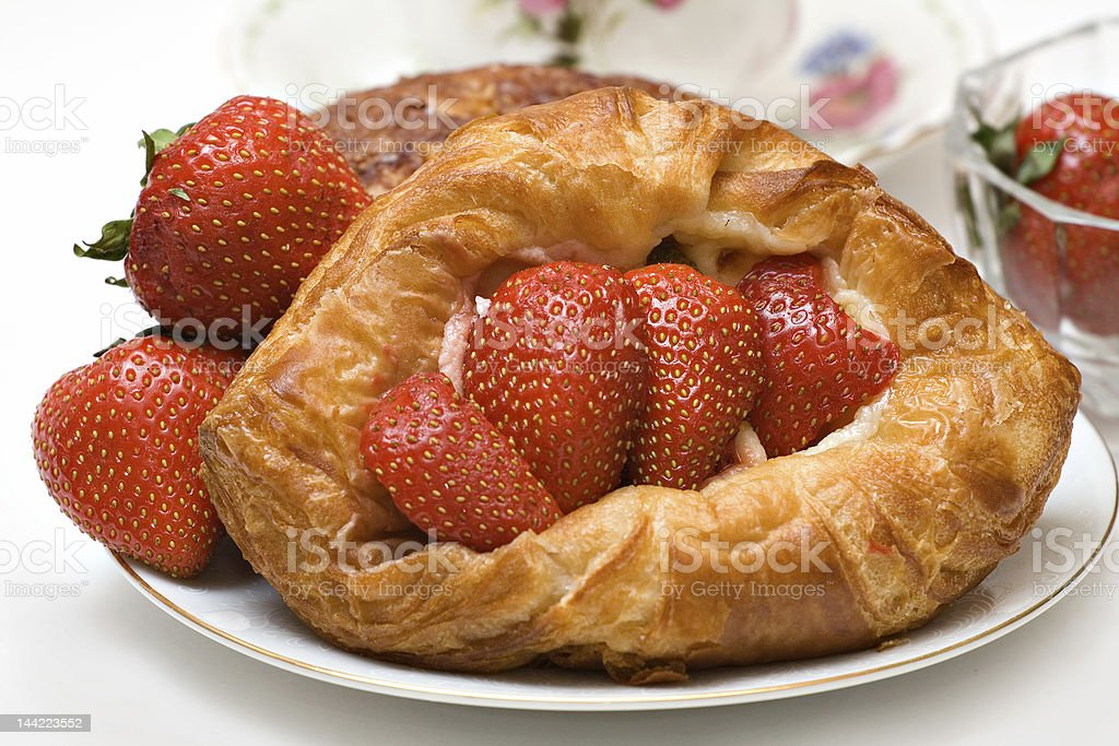 Strawberry Pastry Tart royalty-free stock photo