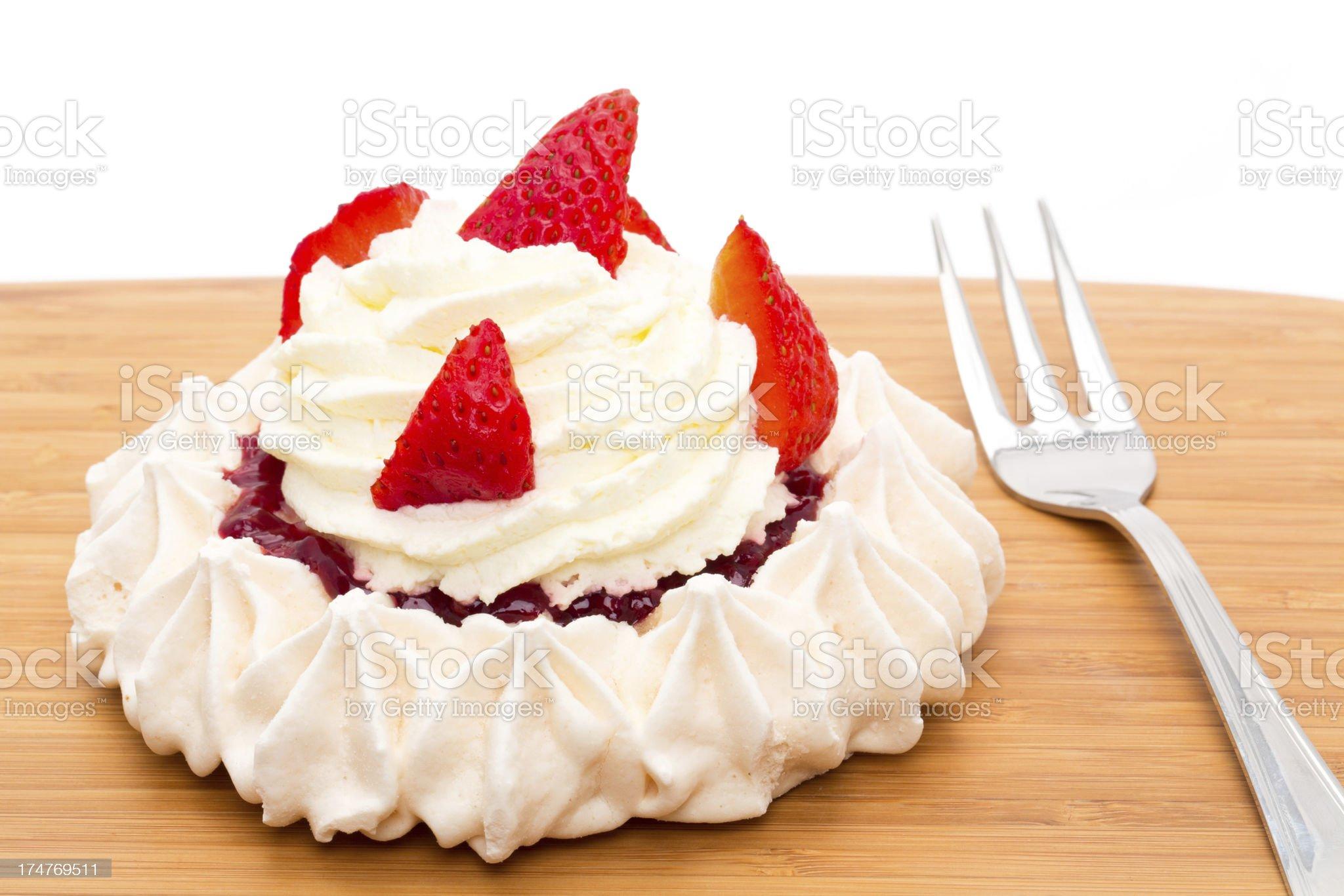 Strawberry pavlova royalty-free stock photo