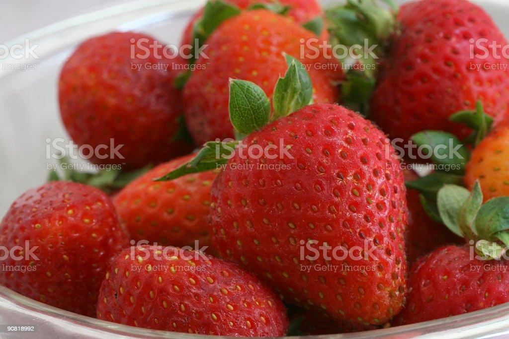 Strawberry (Macro) royalty-free stock photo