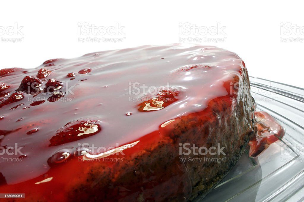 Strawberry Pie close-up royalty-free stock photo