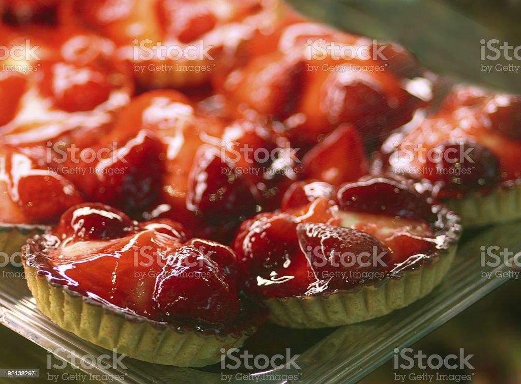 strawberry pies stock photo