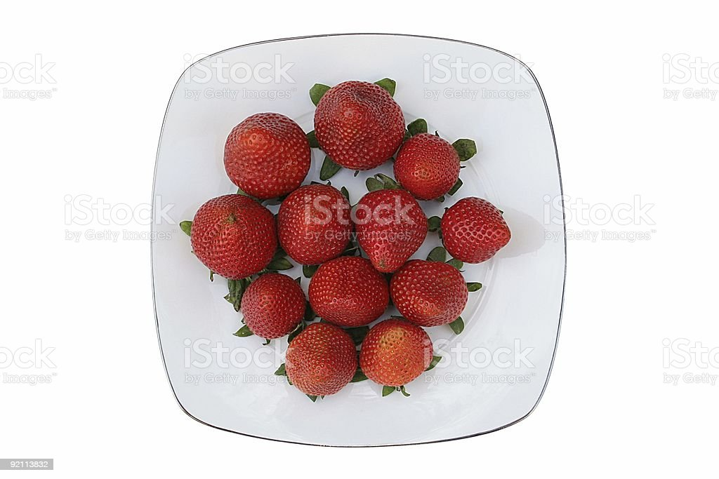 Strawberry Plate royalty-free stock photo
