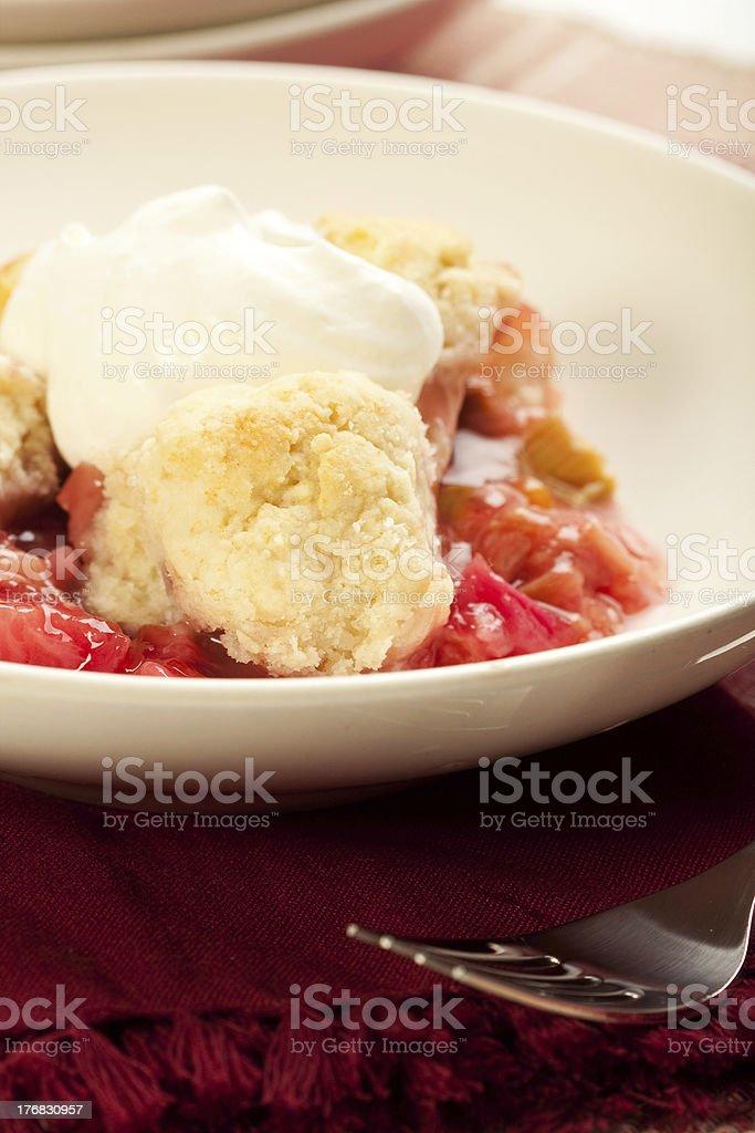 Strawberry Rhubarb Cobbler stock photo