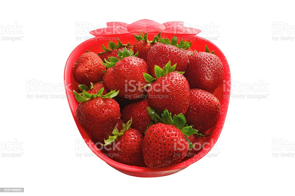 Strawberry Shaped Bowl stock photo