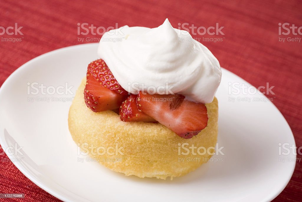Strawberry Shortcake Dessert stock photo