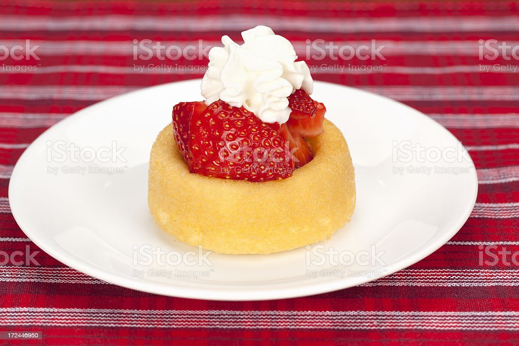 Strawberry Shortcake with Whipped Cream royalty-free stock photo