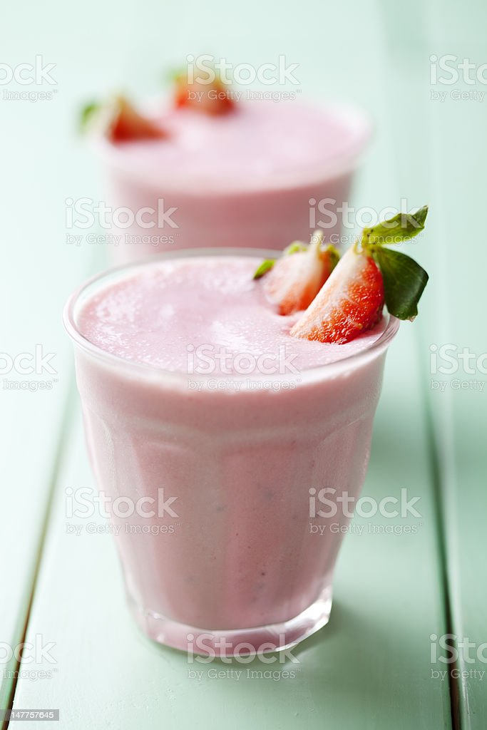 strawberry smoothe stock photo