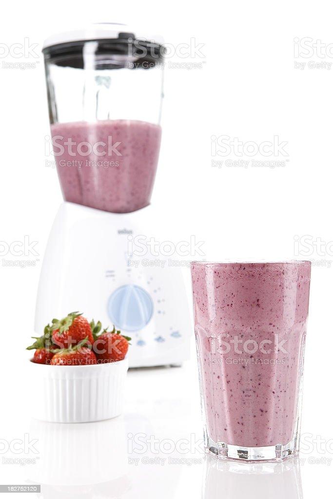 Strawberry smoothie royalty-free stock photo