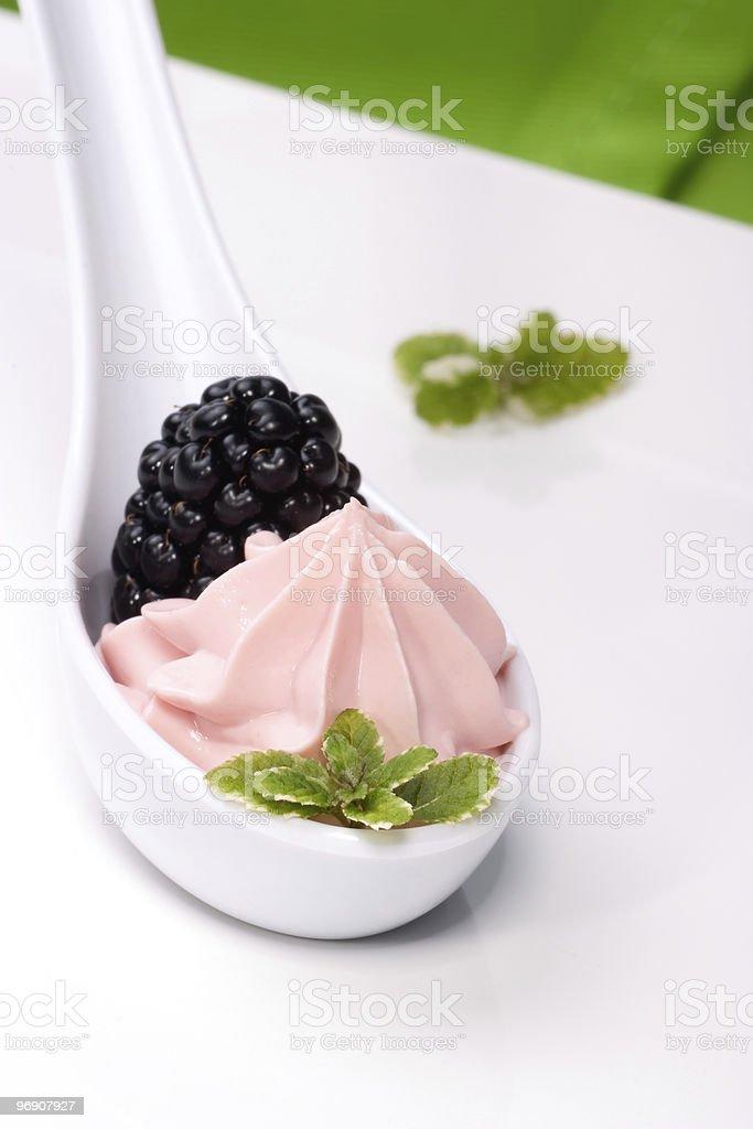 Strawberry souffle stock photo