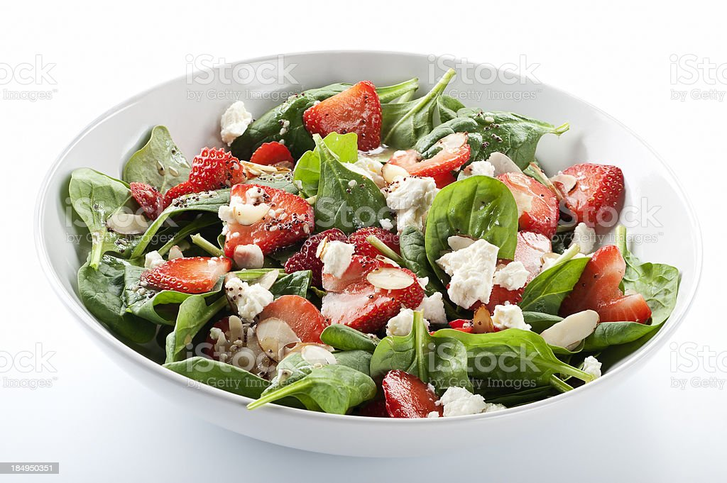 Strawberry Spinach Salad stock photo