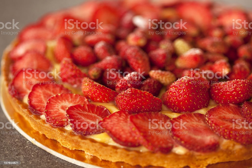 strawberry tart royalty-free stock photo
