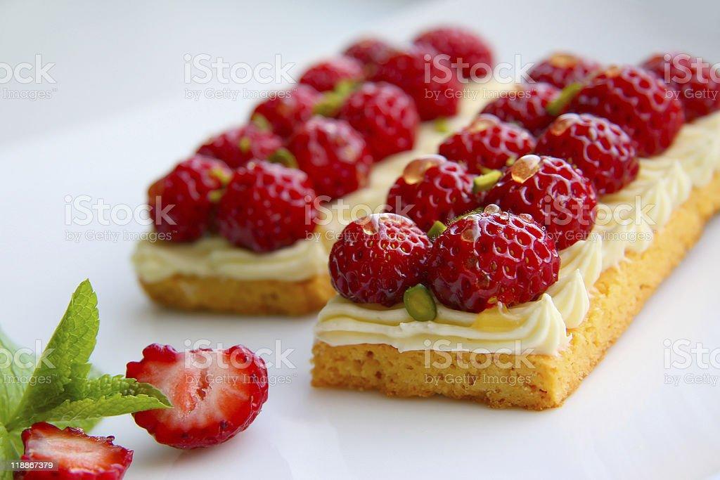 strawberry tarts royalty-free stock photo
