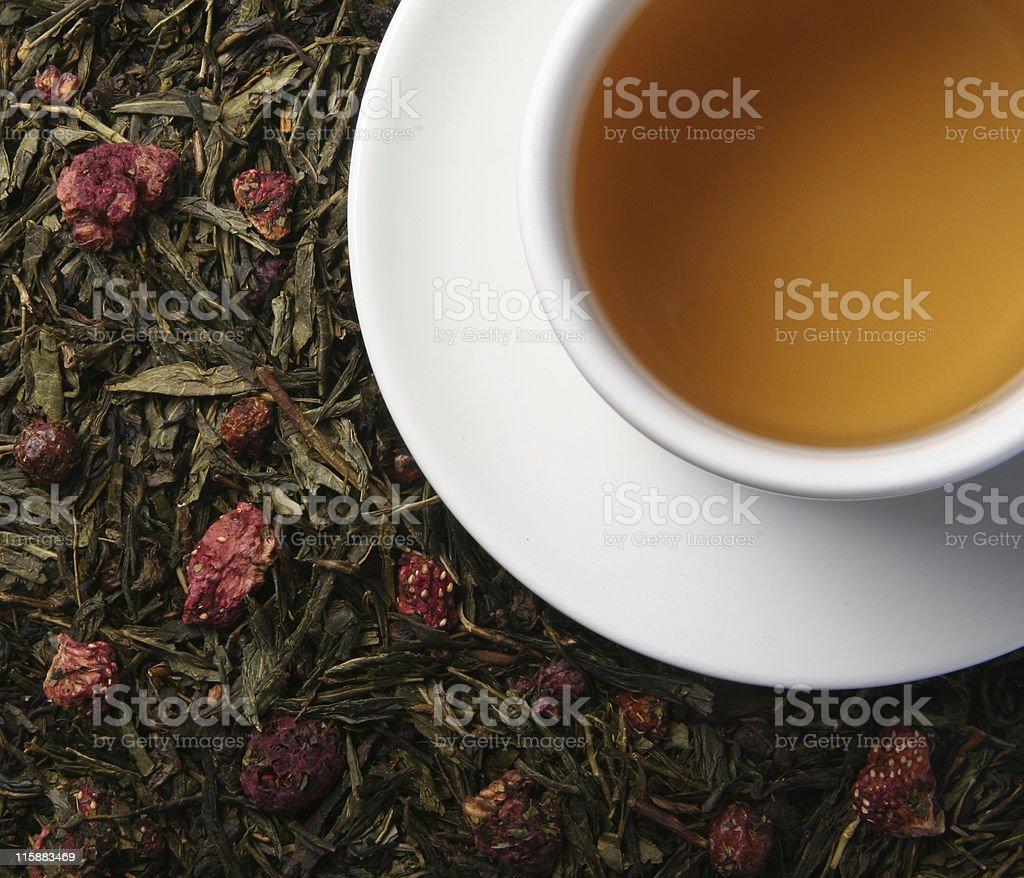 Strawberry tea royalty-free stock photo