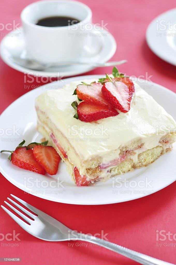 Strawberry Tiramisu cake royalty-free stock photo