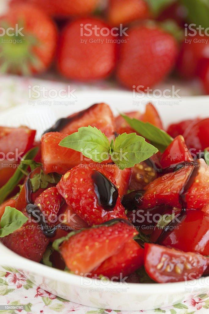 Strawberry tomato salad royalty-free stock photo