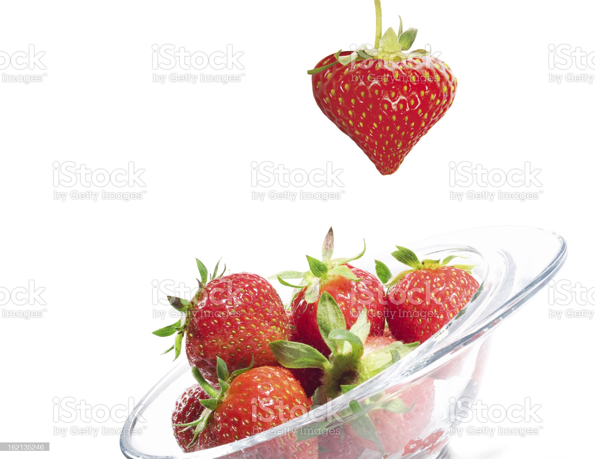 Strawberry Valentine's heart royalty-free stock photo