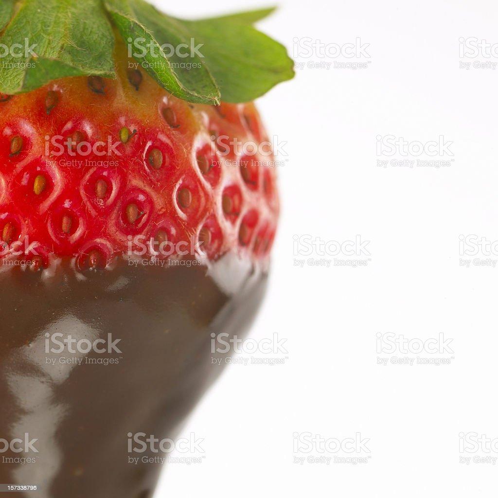 Strawberry with chocolate stock photo