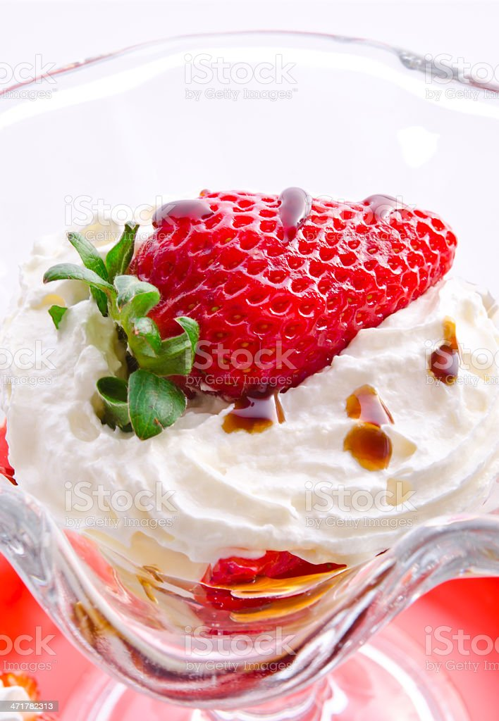 strawberry with cream royalty-free stock photo