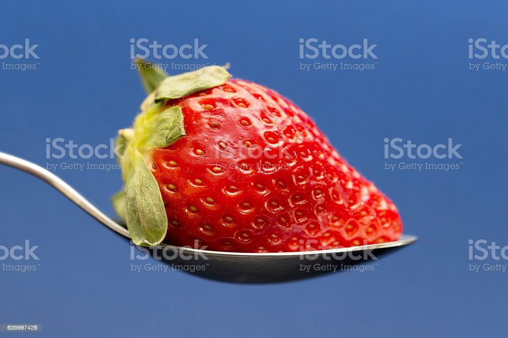 Strawberry with Milk stock photo