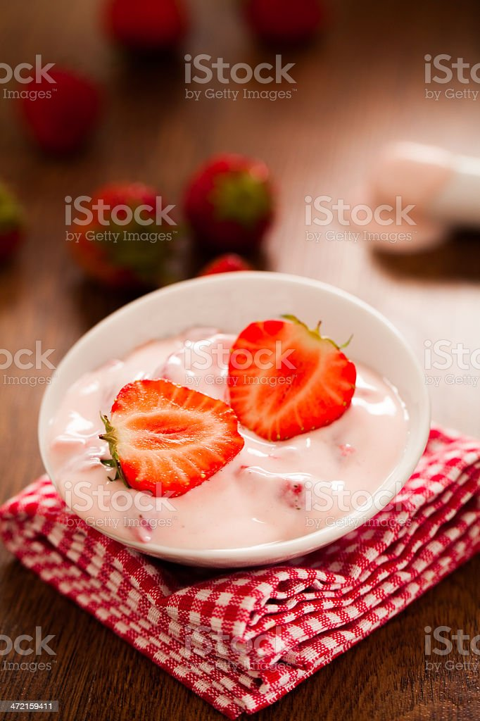 Strawberry Yogurt royalty-free stock photo